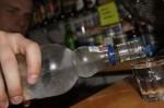 wódka wyborowa podczas prezentacji