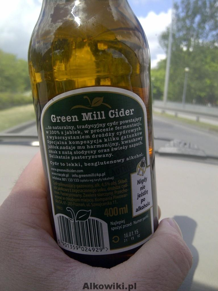 green mill cider etykieta