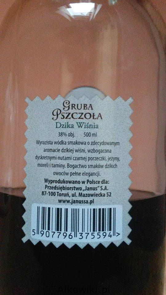 Wodka wisniowa Gruba Pszczola